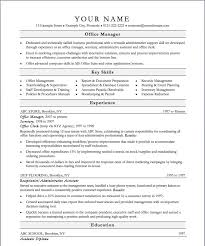 Skill Set Resume Examples by Resume Examples Resume Template For Office Manager Services