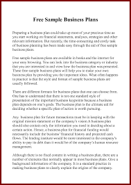 Starting A Business Plan Template Sample It Business Plan