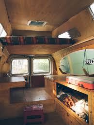 Pop Up Camper Interior Ideas by Diy Van Conversion With Loft Bed Diy Van Conversion Pinterest
