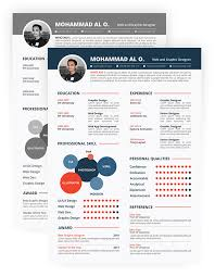 Resume Design Template  cover letter free creative resume design