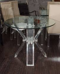 Lucite Dining Room Table Lucite Table Base With Glass Top At 1stdibs