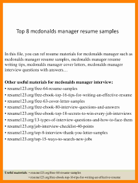 mcdonalds job description resume mcdonalds resume youtuf com