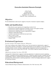 Executive Assistant Job Resume by Executive Assistant Resumes Free Resume Example And Writing Download