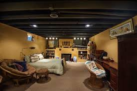 Black Ceiling Basement by Unfinished Basement Ceiling Options Basement Design Ideas