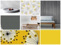 Concrete Dining Room Table Modern Colour Scheme Yellow And Concrete In The Dining Room
