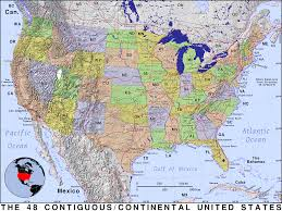 United States Map by Continental United States Public Domain Maps By Pat The Free