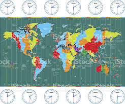 World Time Zones Map by Time Zone Clip Art Vector Images U0026 Illustrations Istock