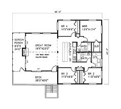 beach style house plan 4 beds 2 00 baths 1600 sq ft plan 307 102