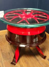 Coffee Tables For Sale by Race Car Rim Made Into End Table For Sale On Etsy For 500 Mpc