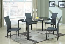 Metal Dining Room Chair Coaster Fine Furniture 103741 Metal Dining Table With Glass Top