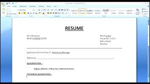 What To Put In A Cover Letter For A Cv How To Make A Simple Resume Cover Letter With Resume Format Youtube