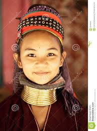 NAI SOI, THAILAND - FEB 3: Unidentified Karen long neck young woman in the village, review of daily life of local people, Padaung tribe near to Myanmar ... - unidentified-karen-long-neck-young-woman-23446341