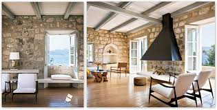 Rustic Home Interior Interior Stone Wall Ideas Zamp Co