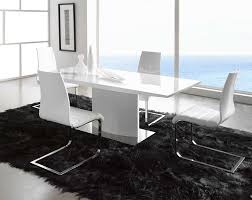 Dining Room Sets For 4 Striking White Glossy Modern Dining Table For 4 With White Armless