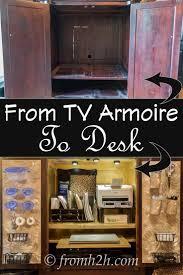Desk Armoire Top 25 Best Tv Armoire Ideas On Pinterest Armoires Armoire
