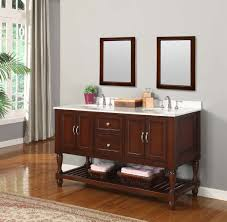 cherry mission style bench bathroom modern with flat panel benevola