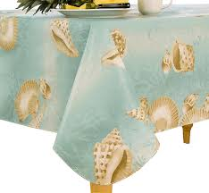 Tablecloth For Umbrella Patio Table by Amazon Com Elrene Home Fashions 37770mlt Seashell Outdoor Flannel