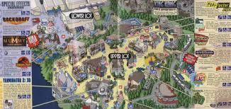 Orlando Universal Studios Map by Universal California Map California Map