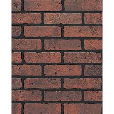 Fake Exposed Brick Wall Shop Dpi 47 75 In X 7 98 Ft Embossed Red Brick With Black Grout
