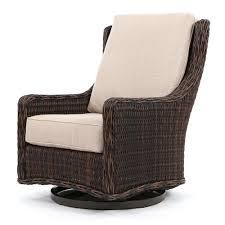 Club Swivel Chair Ebel Geneva Wicker Patio Club Swivel Glider Chestnut