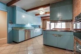 Retro Metal Kitchen Cabinets by 1954 Texas Time Capsule House Original Cork Floors Gorgeous