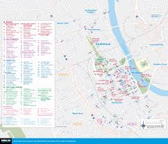 New Orleans Downtown Map by Printable Travel Maps Of Tennessee Moon Travel Guides