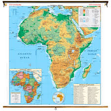 Physical Map Of Africa by
