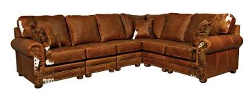 Cowboy Style Home Decor Outlaw Sectional Sofa In Weston Pecan U0026 Hair On Hide For The