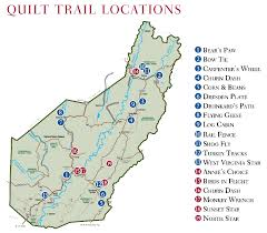 Map Of West Virginia Counties Quilt Trail Of Pocahontas County Wv Patterns From The Past