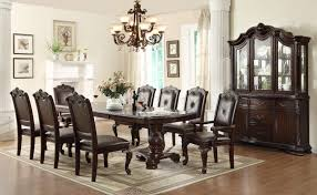 crown mark kiera traditonal dining table set with 2 arm chairs and
