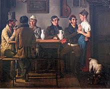 Harassment of a waitress  by Johann Michael Neder        Germanisches Nationalmuseum Wikipedia