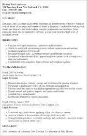 Legal Resume Sample by Professional Legal Assistant Templates To Showcase Your Talent