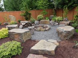 Landscaping Ideas For Backyards by Architecture Backyard Landscaping Ideas With Fire Pit Bench Plus