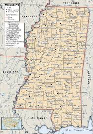 State Of Tennessee Map by State And County Maps Of Mississippi