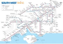 Canada Rail Map by Map Of London South West Trains Rail Network Travel Pinterest
