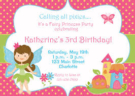 Birthday Invitation Cards Models Fairy Princess Party Birthday Invitation By Thebutterflypress