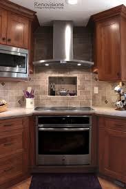Kitchen Backsplash Ideas With Cherry Cabinets New Kitchen Kitchen - Kitchen backsplash ideas dark cherry cabinets