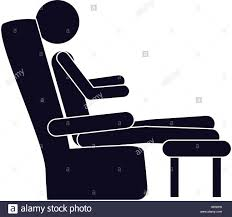 Comfortable Chair by Monochrome Silhouette With Man In Comfortable Chair Vector Stock