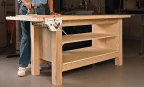 Plans For Building A Wooden Workbench by Rock Solid Plywood Bench Startwoodworking Com