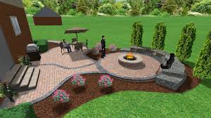 Brick Paver Patterns For Patios by Brick Paver Patio And Fire Pit 3d Landscape Designs Pinterest