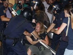 Carga policial en Sol