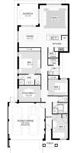 Floor Plans For One Level Homes by Best 25 Narrow Lot House Plans Ideas On Pinterest Narrow House