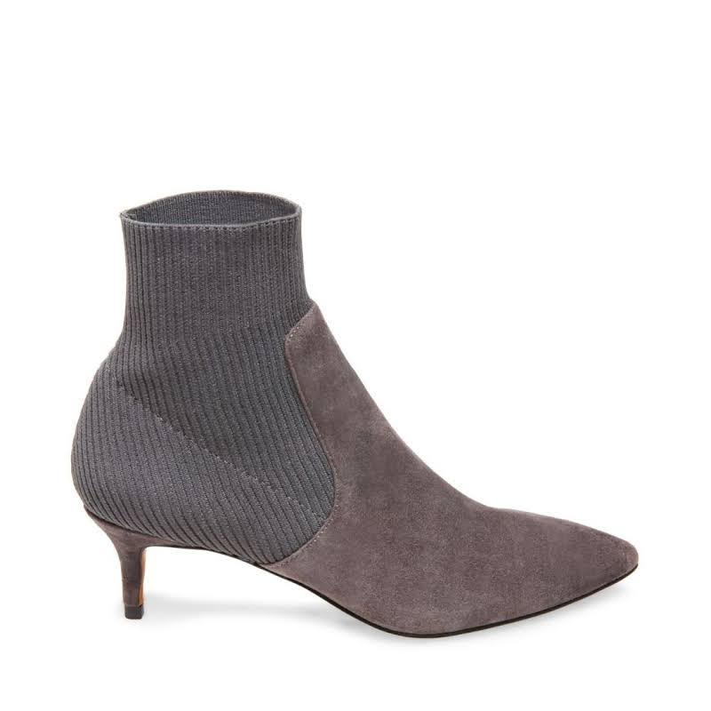 STEVEN By Steve Madden Kagan Ankle Boots Grey 6 M