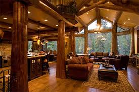 Open Floor Plans Log Homes 145 Fabulous Designer Living Rooms Logs Log Cabins And