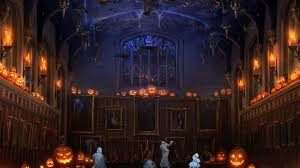 pottermore background halloween in the great hall by xxtayce on