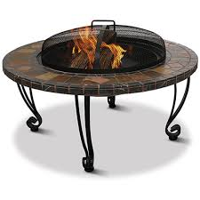 Patio Accents by Uniflame Slate And Marble Fire Pit Walmart Com