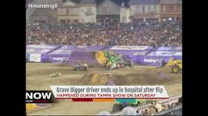 monster truck shows near me driver of grave digger injured in monster jam show in tampa