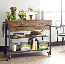 Kitchen Carts On Wheels by Industrial Reclaimed Wood Kitchen Island Cart On Wheels Zin Home