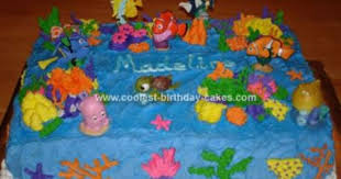 Finding Nemo Centerpieces by Cute Homemade Finding Nemo Scene Birthday Cake Finding Nemo