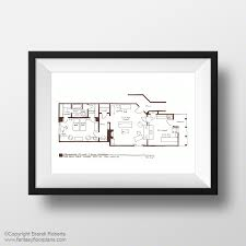 fantasy floorplan original hand drawn sketch for i love lucy
